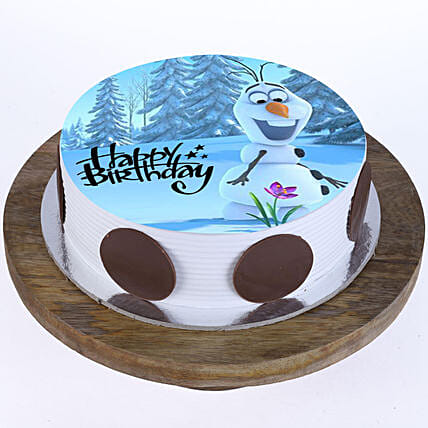 Olaf The Snowman Butterscotch Cake 1Kg Eggless
