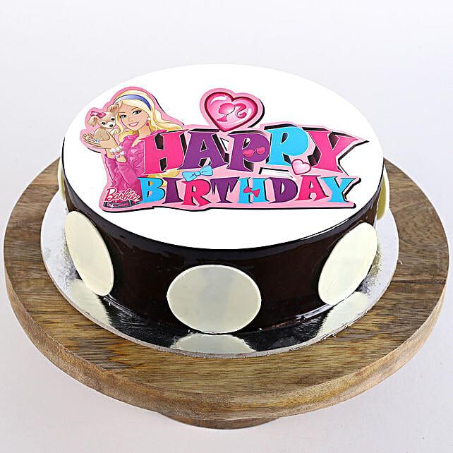 Pink Barbie Birthday Chocolate Cream Cake 2Kg Eggless