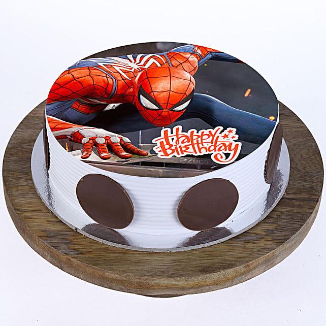 Spiderman Vanilla Cake 2Kg Eggless
