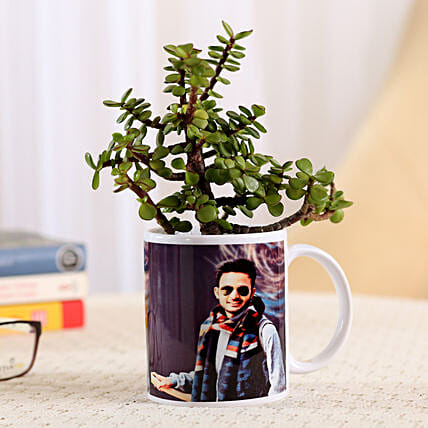 plant n photo mug for her