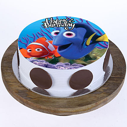 Disney character photo cake