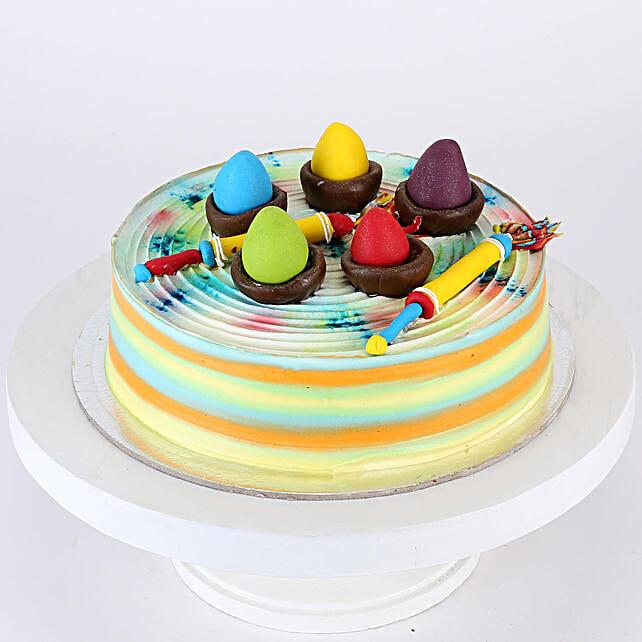Pichkari & Gulal Strawberry Cake- Half Kg Eggless