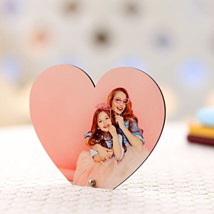Personalized Heart Frame-heartshape frame:Ahmedabad Mother's Day gifts