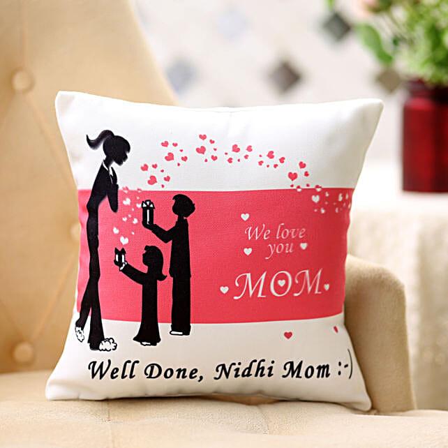 Comforting Personalised-12x12 Cushion For Mom:Personalised Cushions Delhi