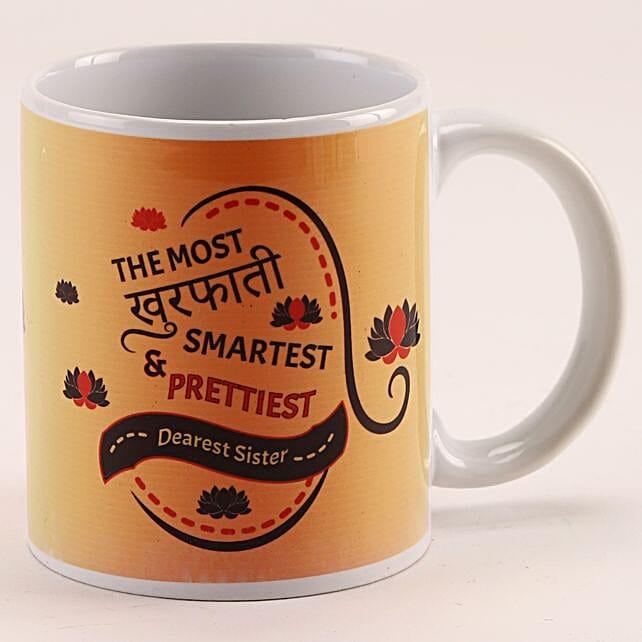 Khurafati Smart Pretty Sister Printed White Mug