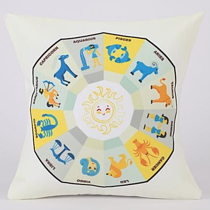 Whats Your Rashee Sun Signs Printed Cushion Cover
