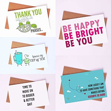 Pack of Cheerful Greeting Cards