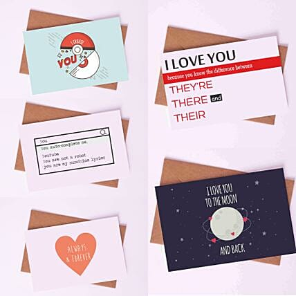 Pack of Witty Romantic Love Cards