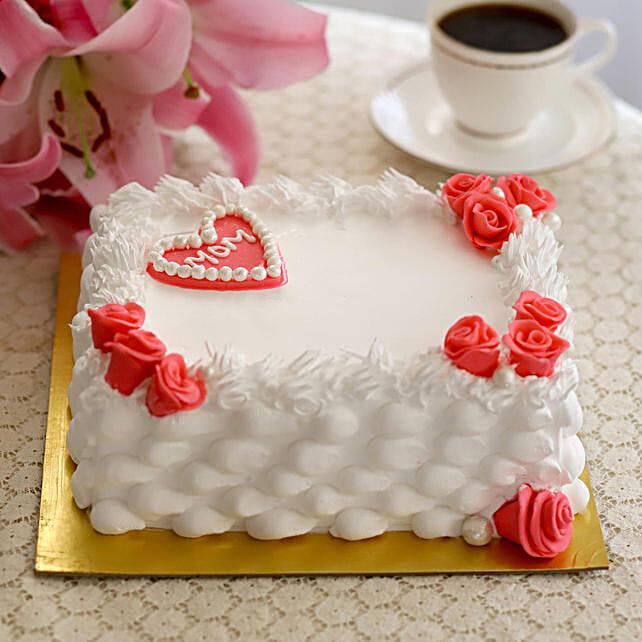 Roses & Heart Orange Cake- Half Kg