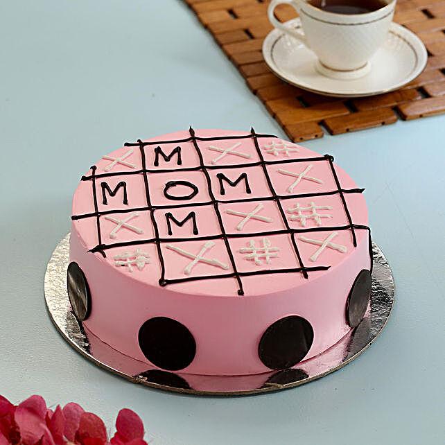 Tic Tac Toe Strawberry Cake For Mom- 1 Kg