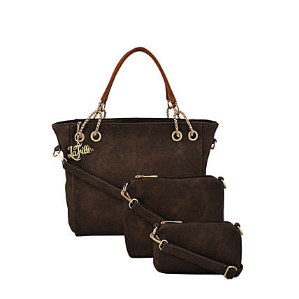 3 set of stylish brown handbag