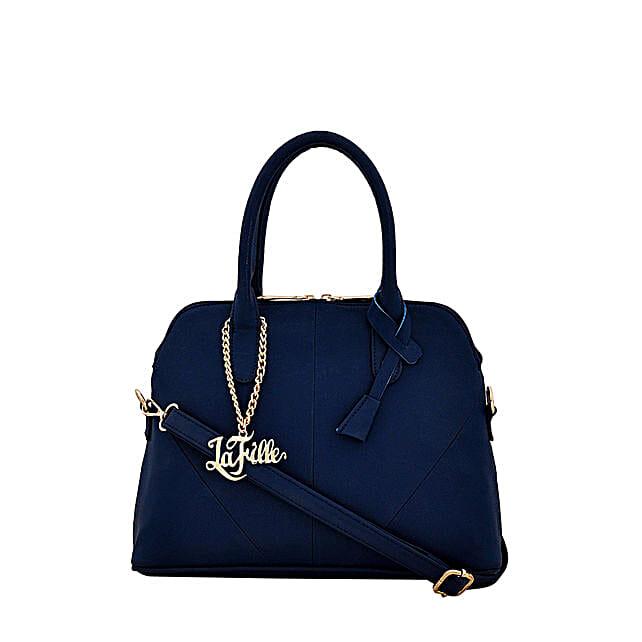 Classy LaFille Blue Handbag