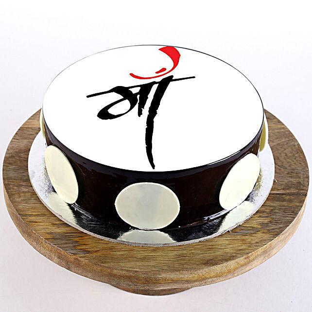 Chocolate Photo Cake For Mom- 1 Kg Eggless