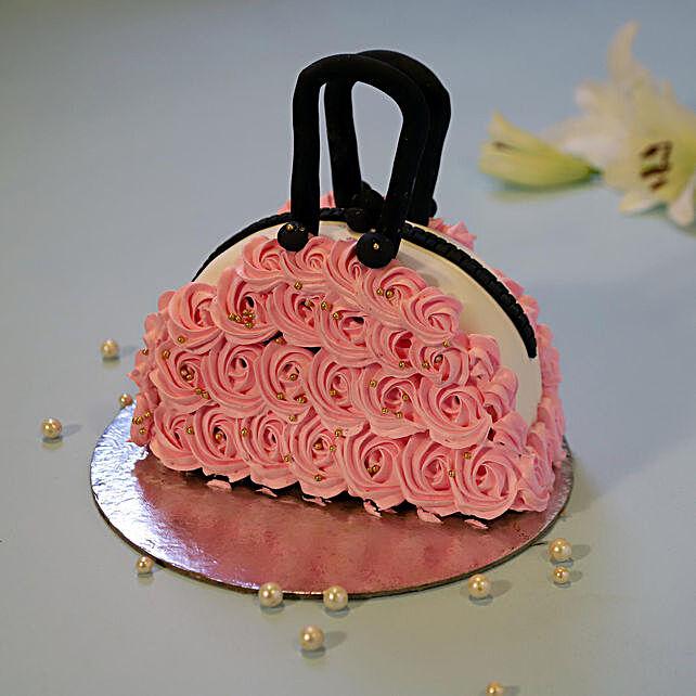 Designer purse shape cake online