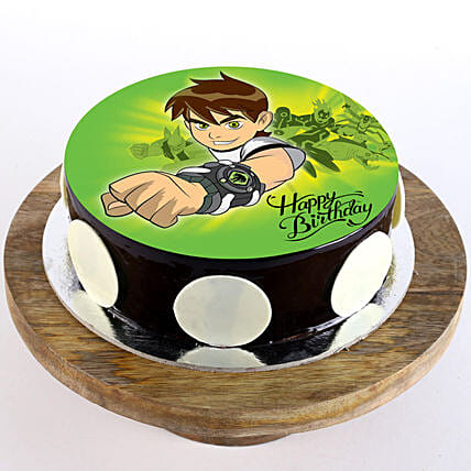 Ben 10 Chocolate Truffle Photo Cake- 1 Kg Eggless