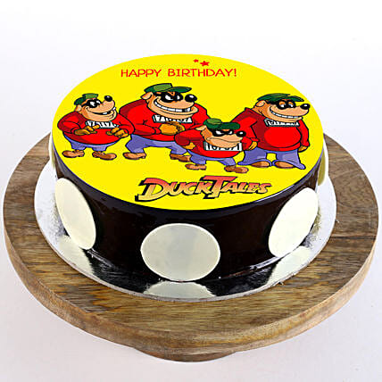 Duck Tales Chocolate Photo Cake- 1 Kg