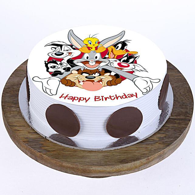 Looney Tunes Photo Cake- Vanilla 2 Kg