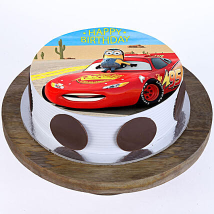 McQueen Photo Cake- Pineapple 2 Kg