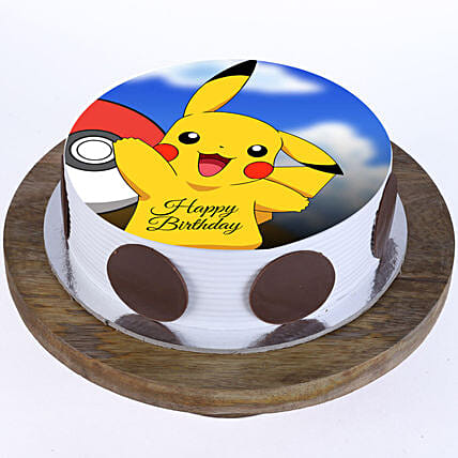 Pikachu Photo Cake- Vanilla 2 Kg Eggless