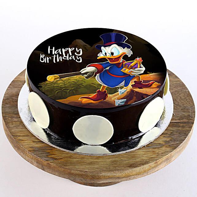 Scrooge McDuck Chocolate Truffle Photo Cake- 1 Kg