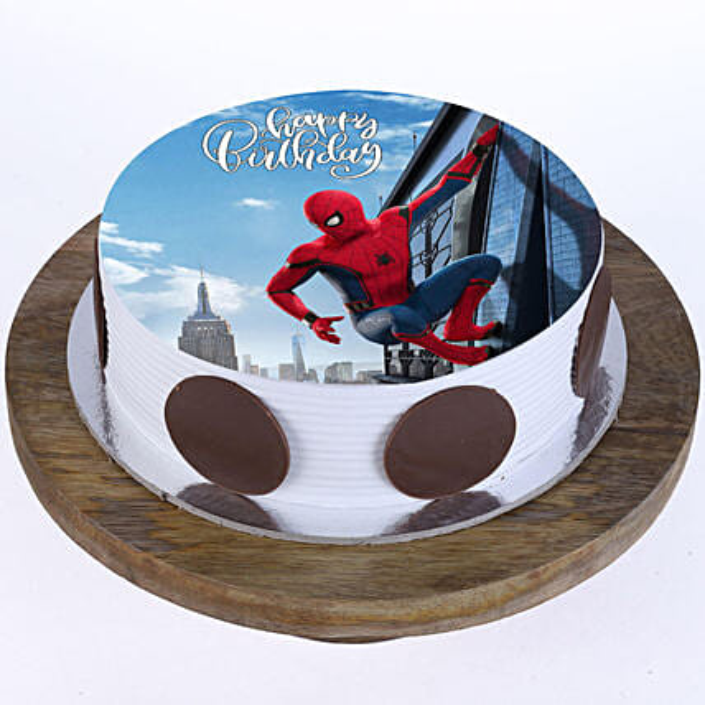 The Spiderman Photo Cake- Vanilla 2 Kg Eggless