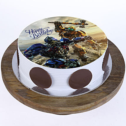 Transformers Photo Cake- Vanilla 2 Kg Eggless