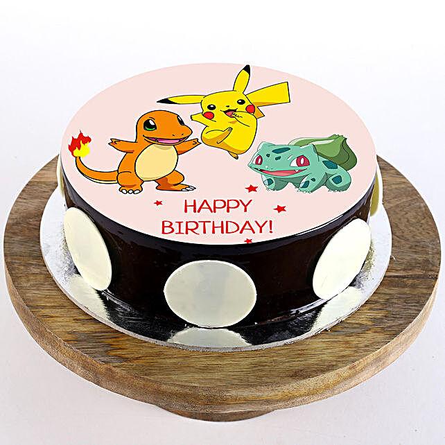 Pokemon Chocolate Photo Cake- 2 Kg
