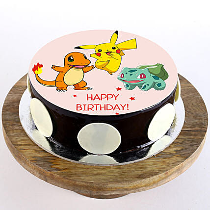 Pokemon Chocolate Truffle Photo Cake- 1 Kg Eggless