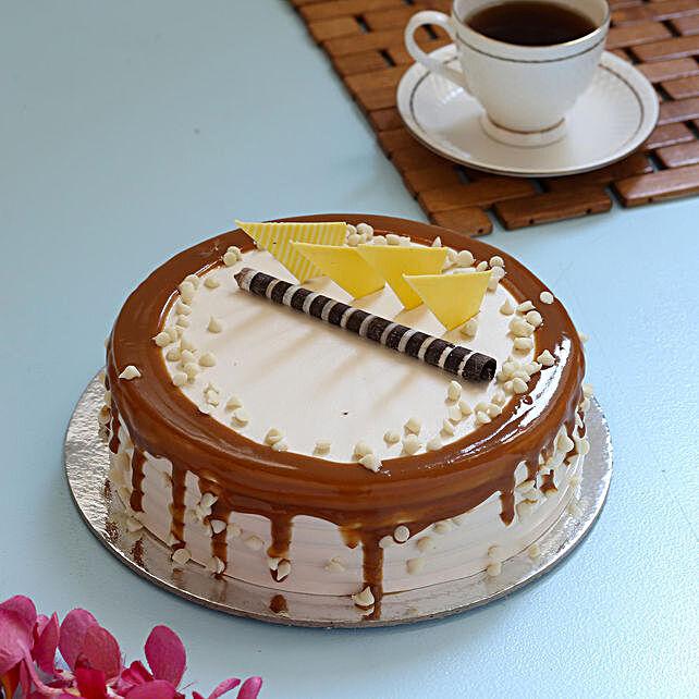 Half Kg Caramel Cream Cake