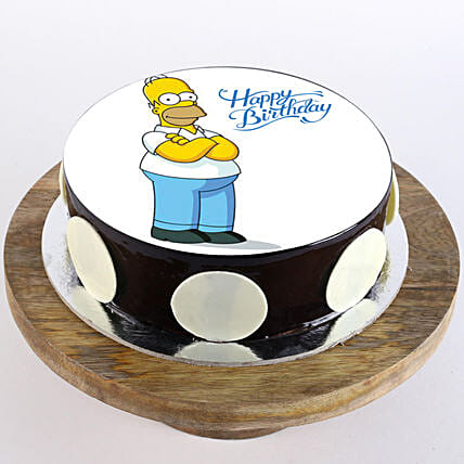 Simpsons Chocolate Truffle Photo Cake- 2 Kg