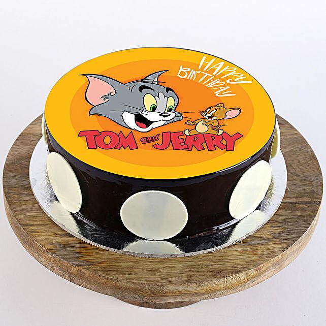 tom & jerry photo cake for kid:Send Cartoon Cakes