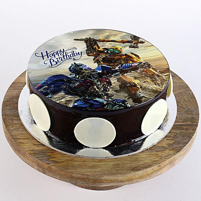Transformers Chocolate Truffle Photo Cake- 1 Kg Eggless