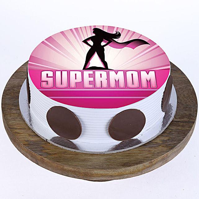 Supermom Vanilla Photo Cake- 2 Kg Eggless