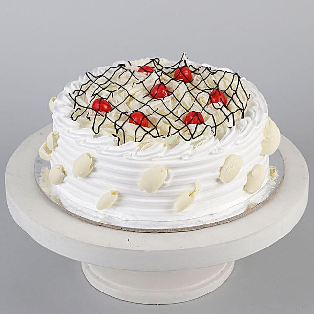 Decadent White Forest Cake- 1 Kg