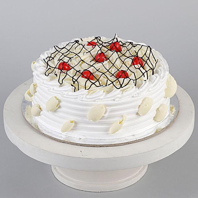 Decadent White Forest Cake- 2 Kg