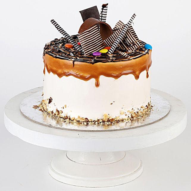 Gems Sprinkled Caramel Cake- Half Kg
