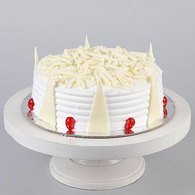 Tempting White Forest Cake- 1 Kg