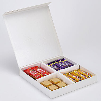 Delicious Chocolates in White FNP Box