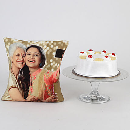 Online Cake with Cushion Combo For Mom