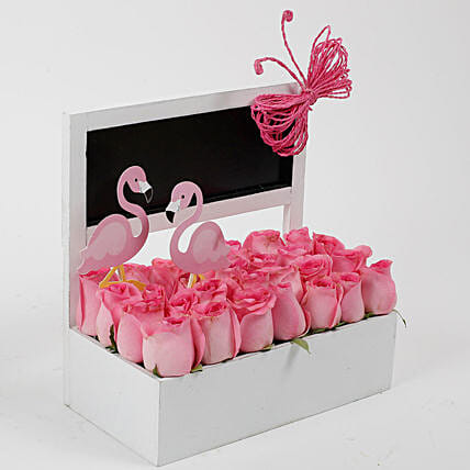 Pink Roses Flamingo Perfection