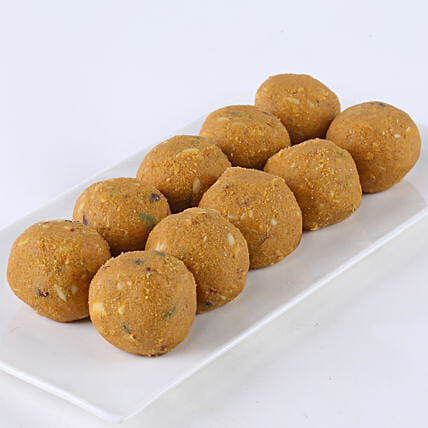 A box of besan laddoo sweets:Fathers Day Sweets
