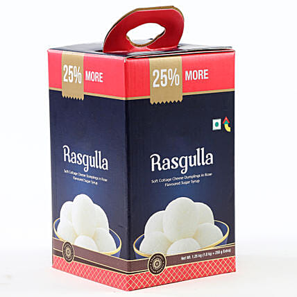 Tin of rasgulla sweets:Fathers Day Sweets