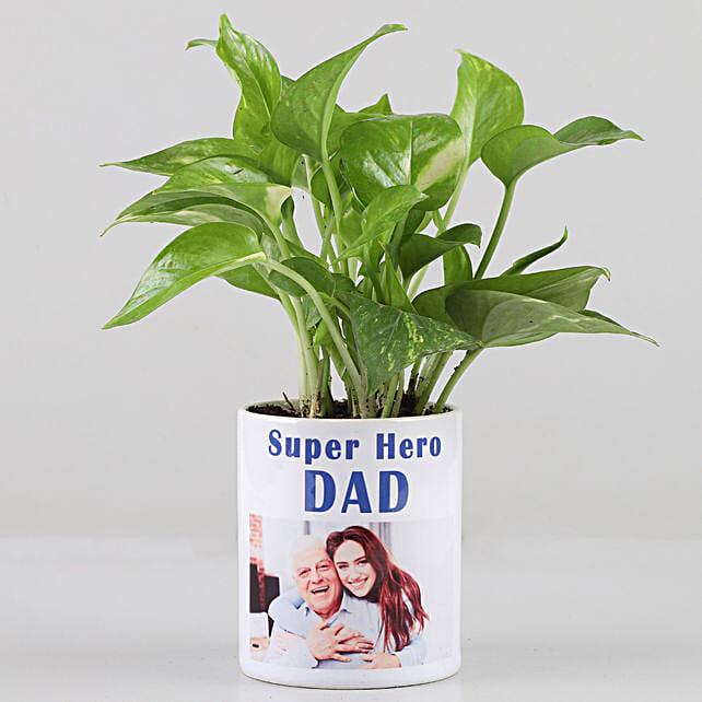 Money Plant In Personalised Super Hero Dad Mug