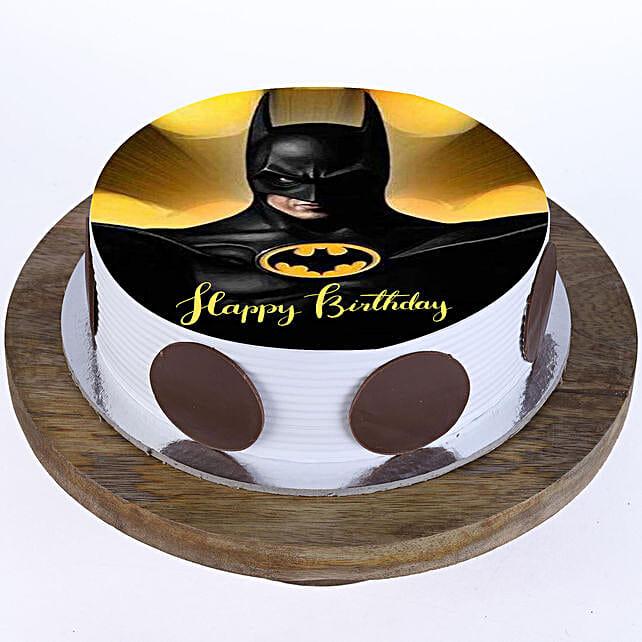 Batman Photo Cake- Vanilla Half Kg