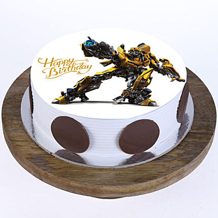 Bumblebee Photo Cake- Pineapple Half Kg
