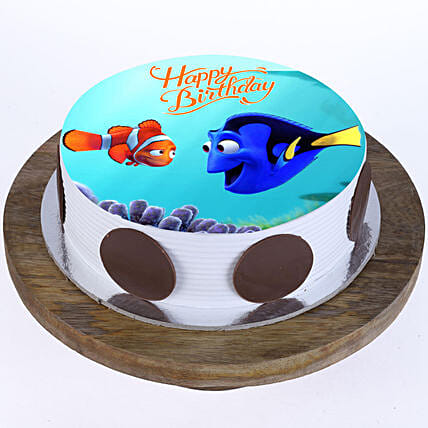 Finding Nemo Photo Cake- Pineapple Half Kg Eggless