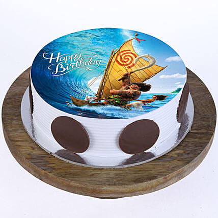 Maui & Moana Photo Cake- Pineapple Half Kg