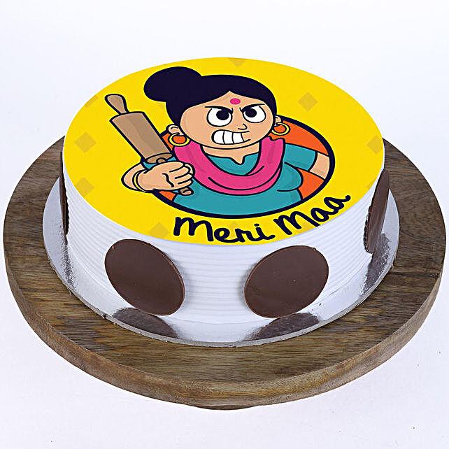 Meri Maa Vanilla Photo Cake- Half Kg Eggless