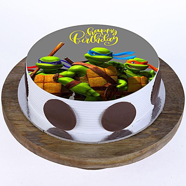 Ninja Turtles Photo Cake- Pineapple Half Kg