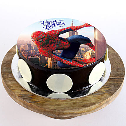 Spiderman Chocolate Photo Cake- Half Kg